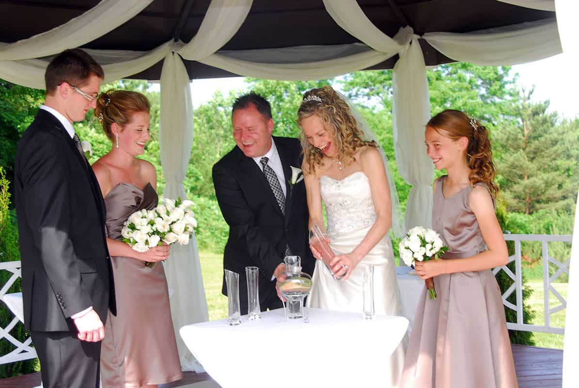 Our wedding DJ service can cover all parts of a traditional wedding reception