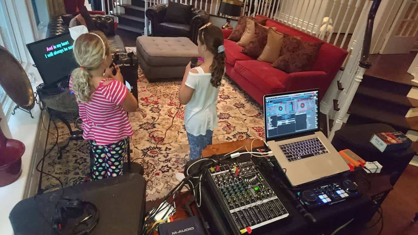 DJ-ing a private dance party