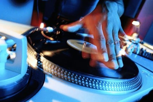 DJ Spinning Music