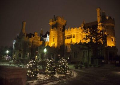 The Casa Loma Castle at night in Toronto