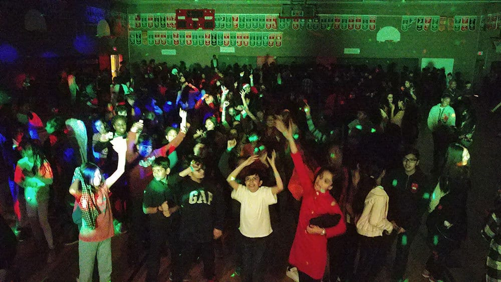 Happy students at a School Dance