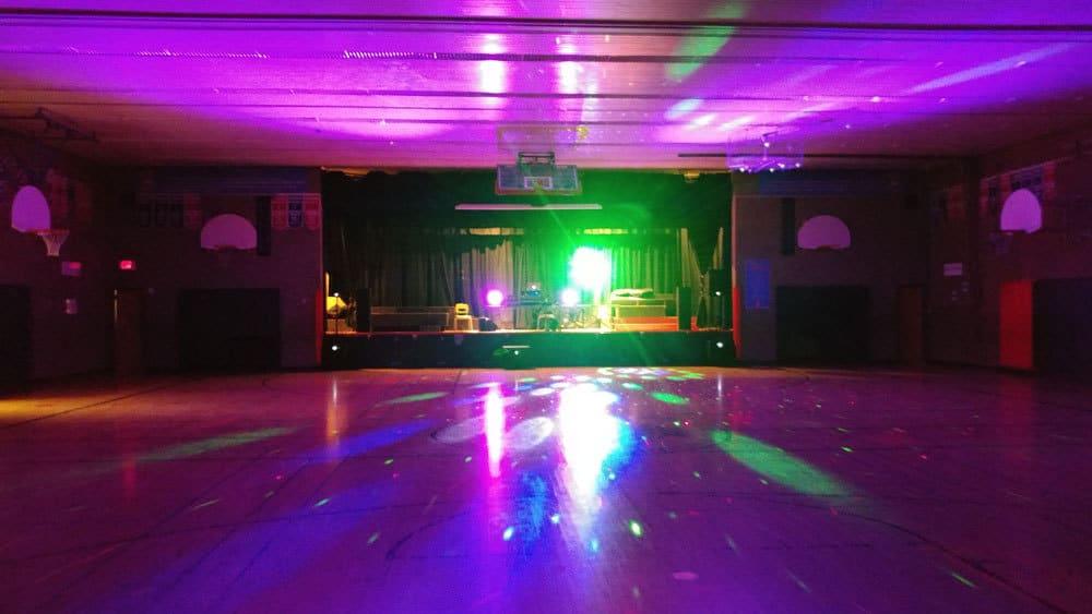 DJ setup before a corporate event