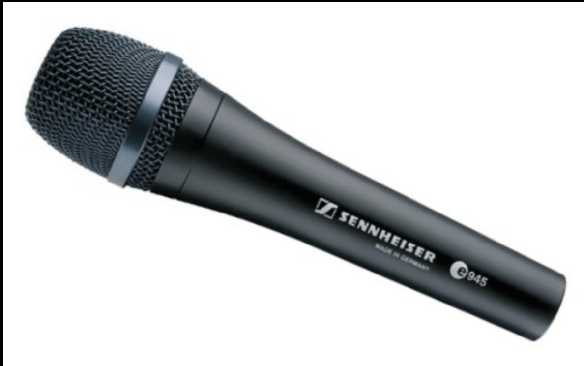 A Sennheiser wireless DJ microphone