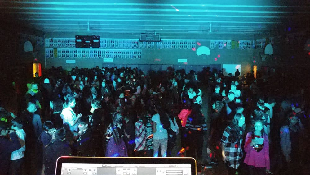 We DJ a School Dance in a gym