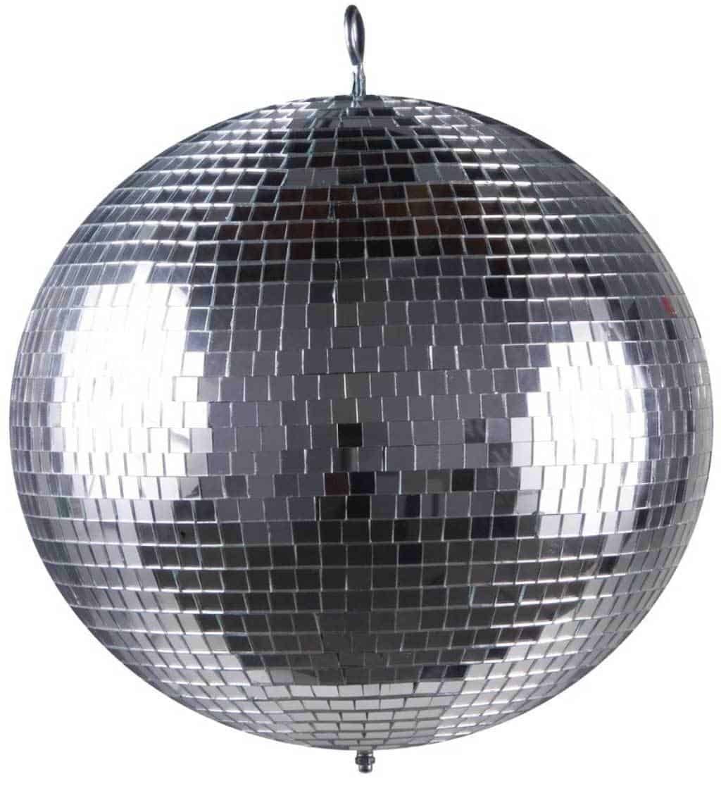 Mirror ball to add ambience to a party or dance